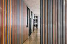 Sliding Wall Offices - The Kinematix Office's Sliding Partition Walls Make It Adaptable