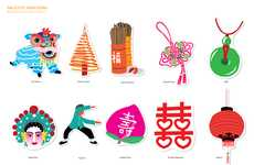 Decorative Adhesive Postcards - Sticker Cards are Hong Kong Greetings That Can Be Applied Anywhere