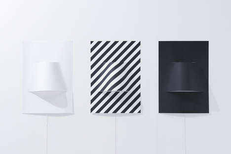Puckered Poster Lamps
