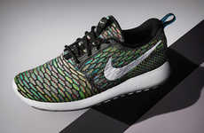 Stylishly Lightweight Sneakers - Nike Puts an Iridescent Spin on the Simple Roshe Flyknit Shoe