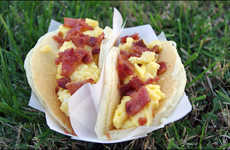 Pancake Taco Hybrids - Mr. Breakfast's Indulgent Recipe is Infused with Eggs and Bacon