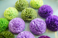 Botanical Party Decor - These Tissue Paper Flowers Can Be Used as Gift or Decor Accents