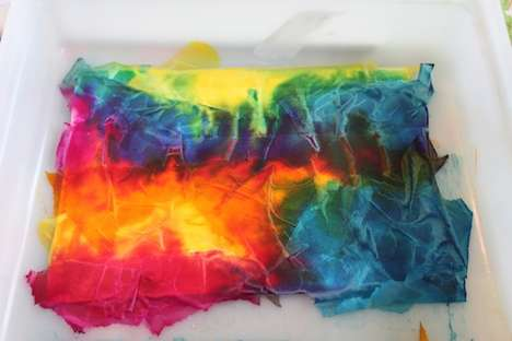 Tie-Dye Tissue Crafts