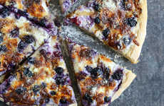 Blueberry Pizza Recipes - The Nontraditional Pie is Perfect for Sharing as an Appetizer or Post Meal