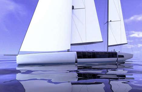 Glamorous Glass Sailboats
