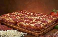 Bacon Pizza Crusts - Little Ceasers Unveils Their Bacon Wrapped Crust Deep! Deep! Dish Pizza