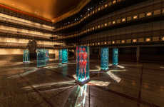 Ephemeral Sculpture Installations - The Justin Yellin Lincoln Center Showcase Celebrates Ballet