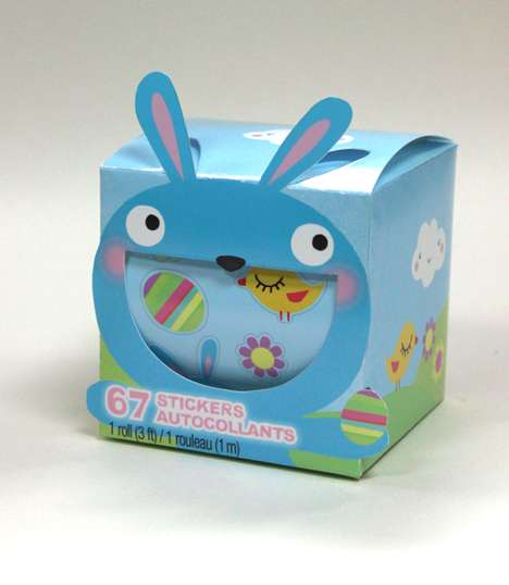 Pop-Out Sticker Boxes - This Fun Sticker Box Design Features an Excited Easter Bunny