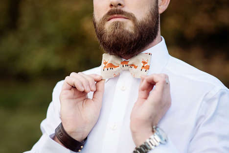 Exotic Debonair Accessories - The Fox Bow Tie Reveals One's Soft Side