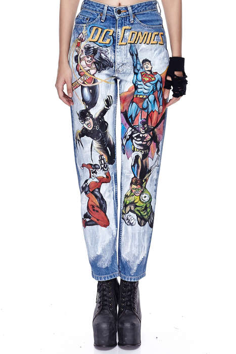 Painted Superhero Jeans