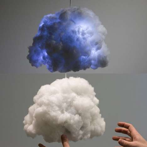 Weather-Simulating Lights - The Tiny Cloud Lamp Changes Color and Has a Bluetooth Speaker