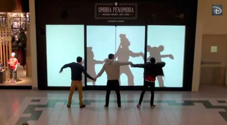 Interactive Cartoon Window Displays