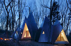 Triangular Timber Abodes - This Woodland Home by Hiroshi Nakamura Looks Like Tepees