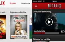 Revamped Video Streaming Interfaces - The New Netflix Interface Embraces Subtlety of Color & Design