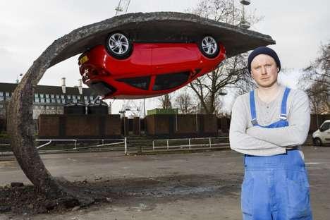 Upside Down Car Installatoins