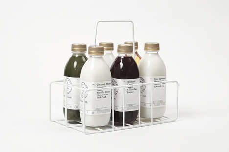 Elegant Bottle Branding - Leeds Juicery Relies on a Simple and Clean Design for a Healthy Spin