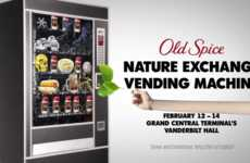 Nature-Swapping Vending Machines - Old Spice's Vending Machine Accepts Tokens from the Earth