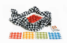 Fabric Picnic Packaging - This Picnic Packaging Solution is Elegant and Versatile