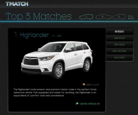 Car Shopping Quizzes - TMatch Narrows Down Choices When Purchasing a Vehicle