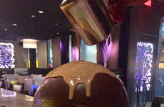 Spherical Chocolate Desserts - The Chocolate Sphere Has a Restaurant Rolling in Success