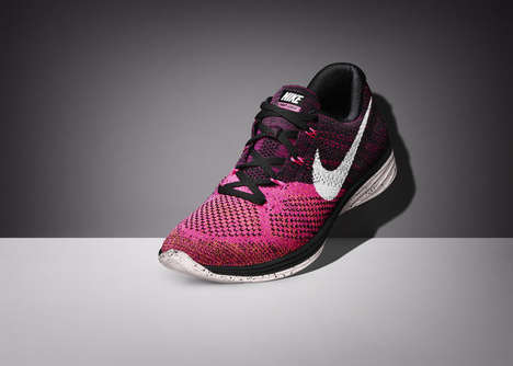 7a79a3fe9172c2 Cushioned Running Shoes - The Nike Flyknit Lunar 3 is Extremely Lightweight  and Supportive