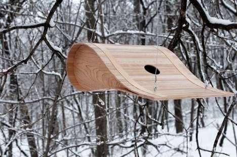 Contemporary Curved Birdhouses