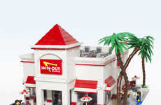 Lego Burger Joints - This In-N-Out Lego is Astonishingly Detailed and True to Life