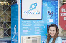 H2O Vending Machines - Aquavida Sells its Products in Compact Vending Kiosks