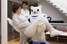 Elderly-Nursing Robots - The Robear Will Help Serve Japan's Aging Population