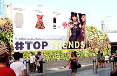 Real-Time Runway Billboards - Topshop's Fashion Billboard Ads Relay Popular Catwalk Looks