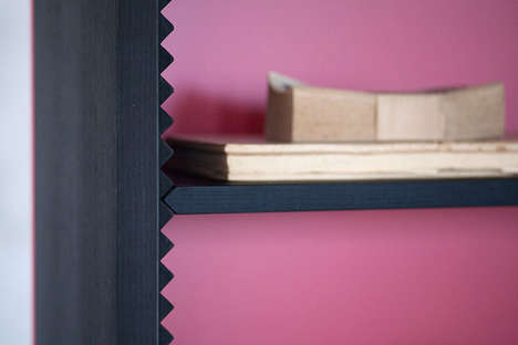Clever Crimped Bookcases