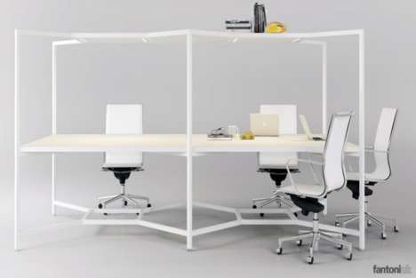 Adaptable Work Desks - The Hub Desk is a Flexible Workspace for an Open Office Design