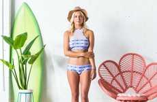 Quirky Surf Apparel - This Ladies Surf Swimwear Lookbook Offers Plenty of Vibrant Prints