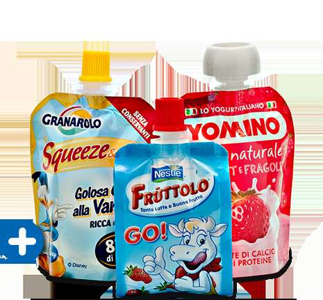 Squeezable Yogurt Packaging - The Cheerpack Yogurt and Dairy Packages are Convenient For Children