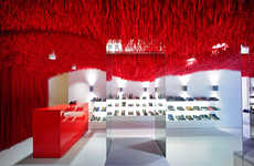 Fibrous Retail Installations - The Camper Melbourne Store is Outfitted with Thousands of Shoelaces