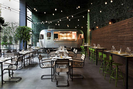 Camping-Themed Restaurants - 48 Urban Garden in Athens Features a Refurbished Airstream Kitchen