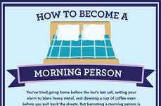 Morning Habit-Changing Charts - The Greatist's Infographic Offers Tips on How to Be a Morning Person
