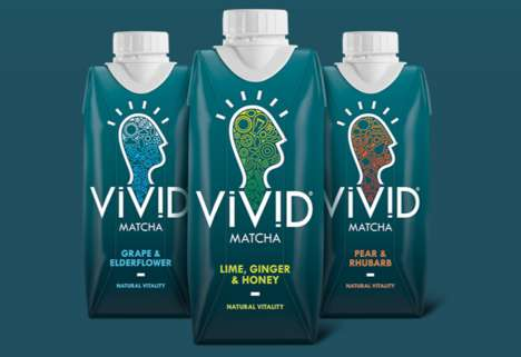 Bottled Tea Beverages - Vivid's Green Tea Drinks Are Made with 100% Unsweetened Matcha