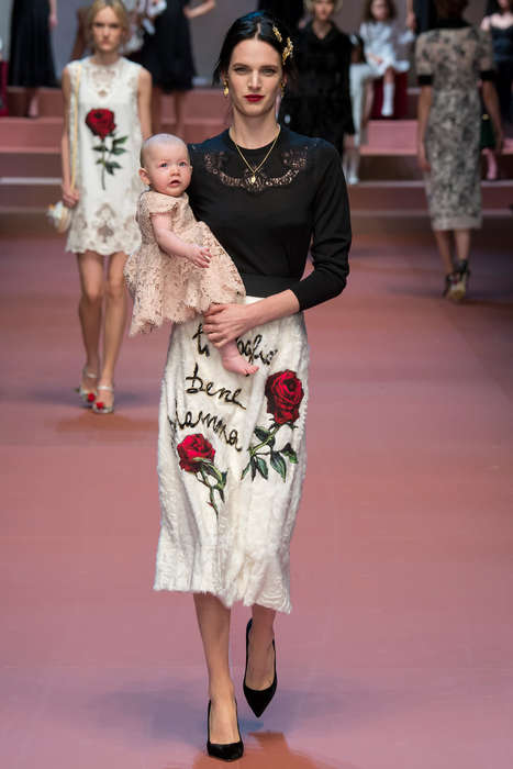 Opulent Maternal Fashion - The Latest Dolce and Gabbana Fashion Pays Tribute to Motherhood