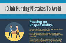 Job-Searching Guides - This Infographic Lists Job Hunting Mistakes Those Seeking Work Should Avoid