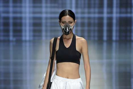 Air Filtration Fashion - Qiadan Yin Peng's Runway Collection Showcases Face Mask Designs