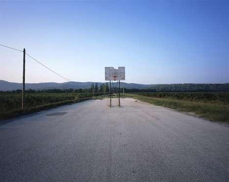 Abandoned Basketball Court Photography