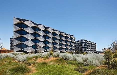 Geometric Hospital Facades