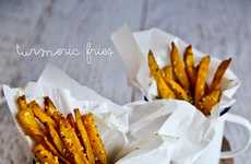 Baked French Fries - Not Quite Nigella Makes a Healthy Fries Recipe with Tumeric and Sesame