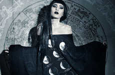 Lunar Occult Lookbooks - Killstar's Daring Fashion Collection is Titled It's Written in the Stars