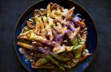 Eclectic Colorful Fries - Mardi Gras Fries are Made with Inspiration from Scrumptious King Cake
