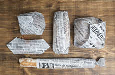 Hand-Written Wrappers - Hornea Bakery Packaging Would Come Personalized with Ingredients and Recipes