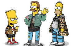 Streetwear-Clad Cartoon Makeovers - Tommy Bates Dresses Simpsons Characters in Designer Apparel