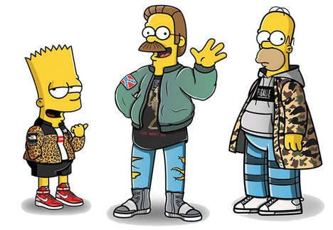 Streetwear-Clad Cartoon Makeovers