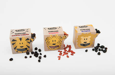 Exotic Snack Boxes - Exotic Snacks' Packaging Makes Superfoods for Kids Appealing and Fun